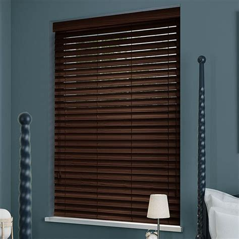 Mahogany Faux Wood Blinds Dark Mahogany Faux Wood Blind 50mm Slat Faux Wood