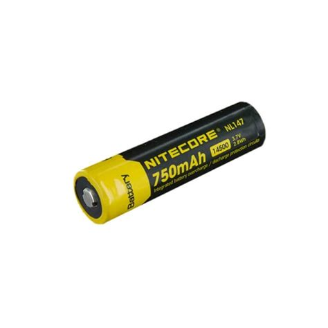 Nitecore 14500 Micro Usb Rechargeable Li Ion Battery 750mah Nl1475r batteries archives anglo forro