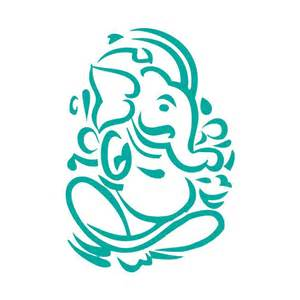 Elephant Wall Mural ganesha outline cut out vinyl sticker ganapati by