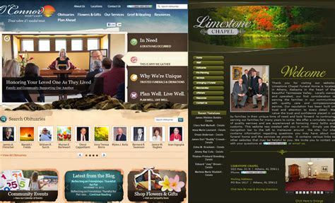 funeralone 187 archive funeral home website design