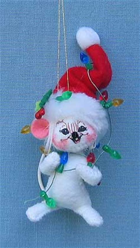 annalee 3 quot christmas lights mouse ornament mint 2007