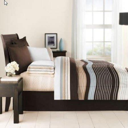 brown & blue urban striped boys twin comforter set (6