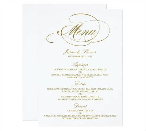Wedding Menu Card Template by Menu Card Design Design Trends Premium Psd Vector