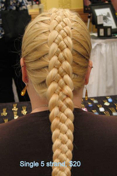 5 strand french braid circle works