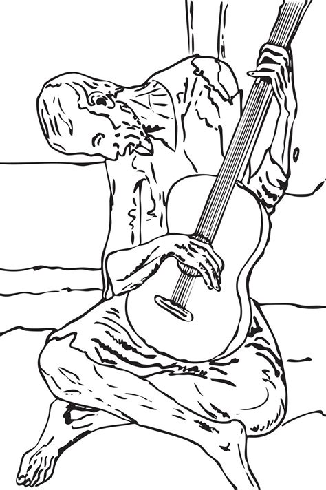 free coloring pages of pablo picasso