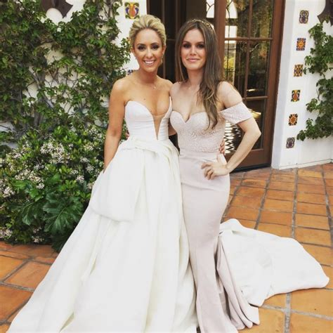 hollywood actress wedding photos rachel bilson looks stunning in white gown at friend s