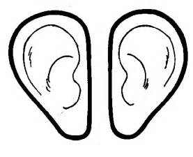 ear coloring page right ears coloring sheet coloring pages