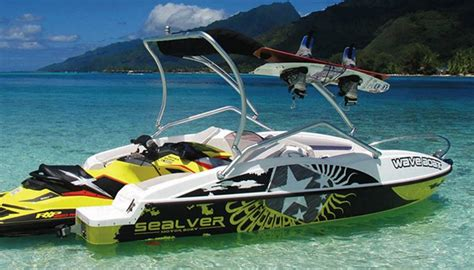 sea doo boat with detachable jet ski waveboat the boat propelled by a jet ski wordlesstech