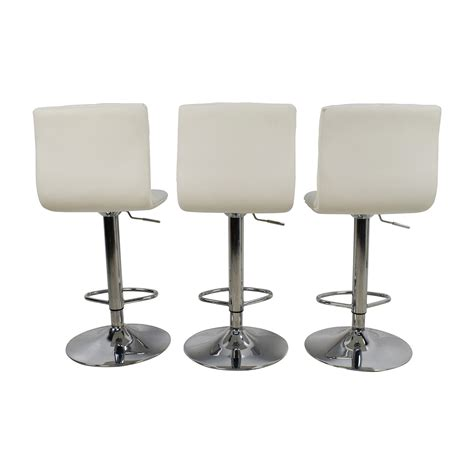 White Bar Stool Chairs 74 White Quilted Bar Stool Chairs Chairs
