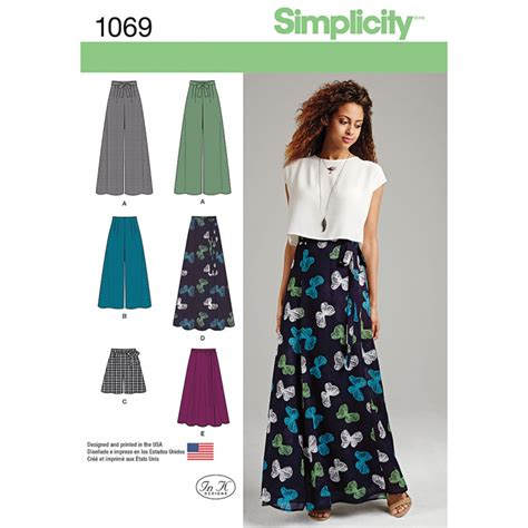 sewing pattern maxi skirt misses wide leg trousers or maxi skirt simplicity sewing