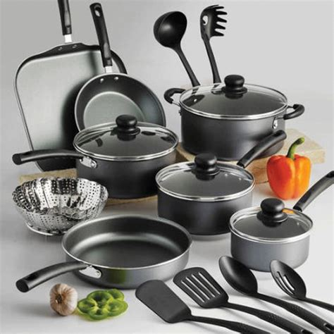 kitchen pots tramontina nonstick 18 piece cookware set pots pans