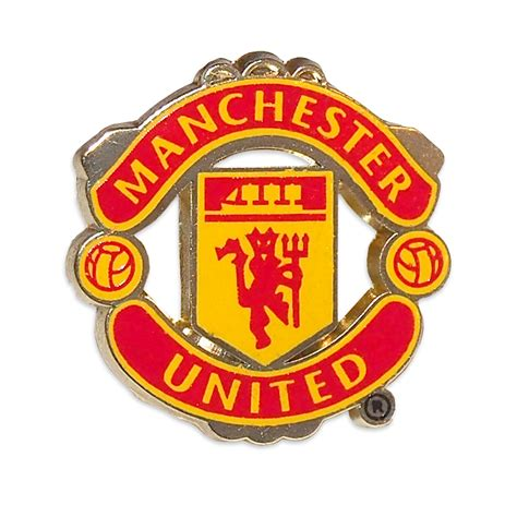 manchester united f c official manchester united fc official football gift crest enamel pin badge ebay