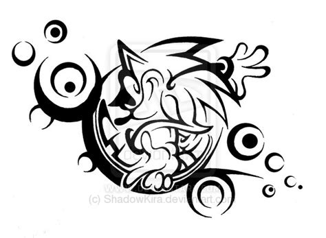 shadow tribal tattoo 15 sonic designs