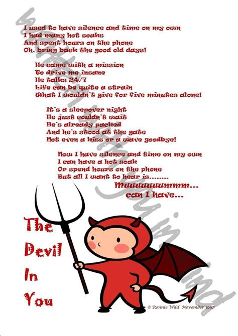 Christmas Place Settings by Poetry The Devil In You A Humorous Poem A Unique