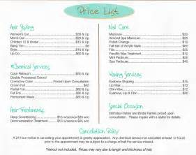 search results salon price list for services the best