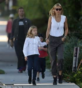 apple martin eye problem gwyneth paltrow out for family stroll with chris martin