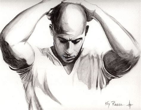 drawing images for vin diesel as himself by kty razza on deviantart