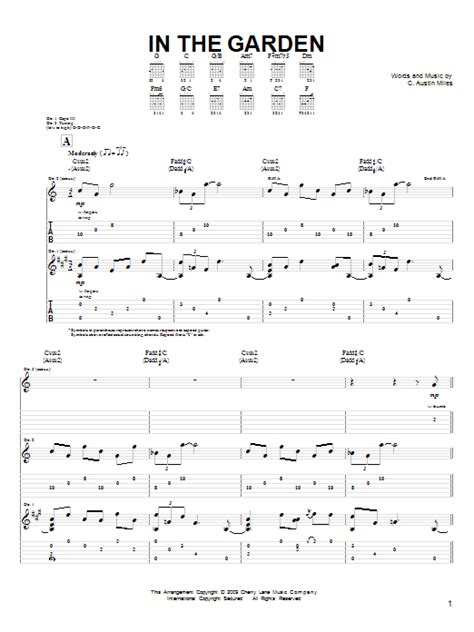 The Gardener Chords by In The Garden Sheet Direct