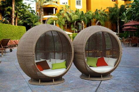 Ball Wicker Bed Wicker Outdoor Furniture Garden Wicker Faux Wicker Patio Furniture