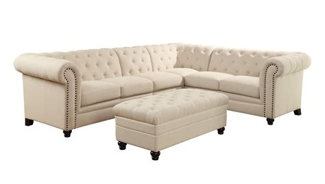 Armless Sectional Sofa Coaster Roy Button Tufted Sectional Sofa With Armless Chair Sol Furniture Sectional Sofas