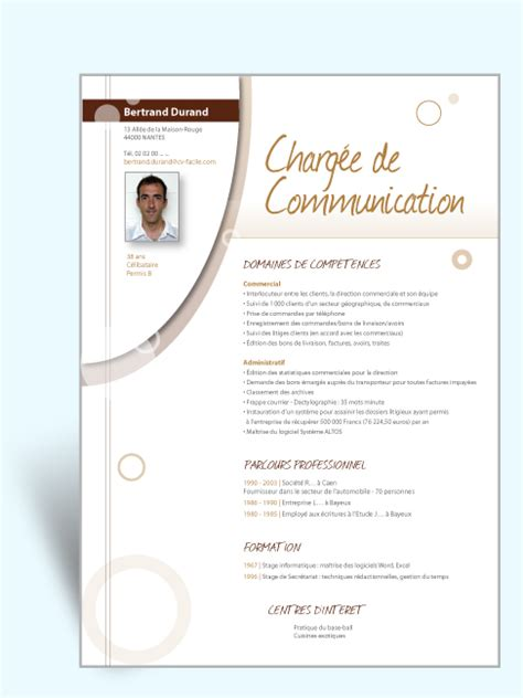 exemple cv original communication document