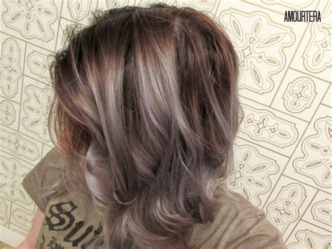 using highlights to blend gray amourtera gt how to get silver gray hair at home beauty