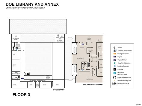 library floor plans floor plans uc berkeley library