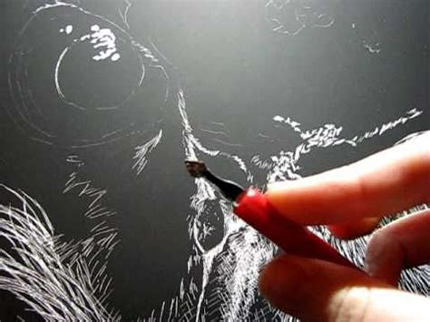 How To Make Scratchboard Paper - owl scratchboard 1