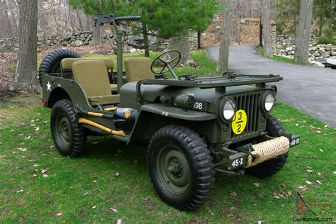 military jeep 1951 willys m38 fully restored antique army military