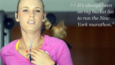 Nyc Marathon Was The Hardest Physical Thing Lance Armstrong Did by Caroline Wozniacki Completes Marathon Toughest Physical