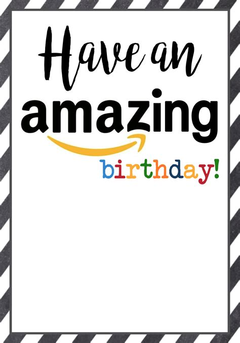 Gift Cards You Can Print - amazon birthday cards free printable paper trail design