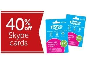 Skype Gift Card Discount - expired get a 40 discount off skype gift cards at target gift cards on sale