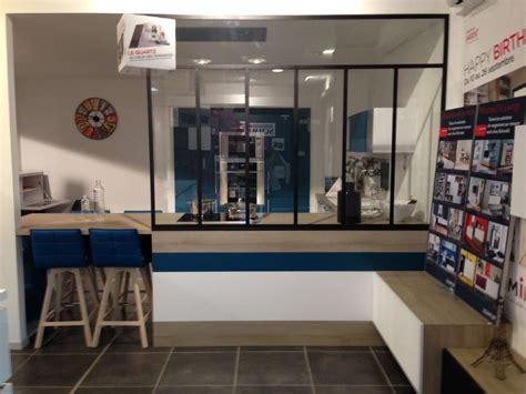 Meuble Separation 3083 cuisine avec cloison industrielle vitr 233 e castorama axioma