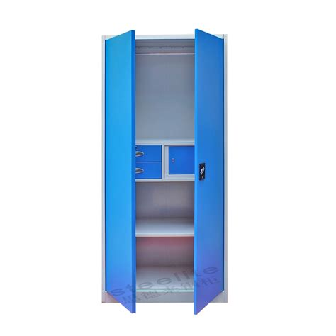 High Gloss Folding Steel Powder Coated Almirah/wardrobe