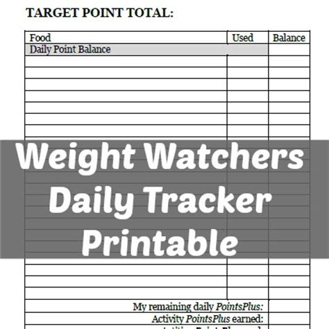 printable weight watchers journal pages seasons of a homemaker free printable weight watchers