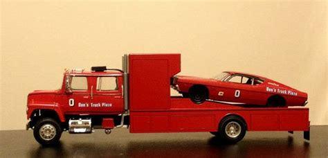 commercial vehicle model kits ford l series race car hauler trucks commercial vehicles