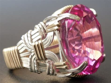 Cincin Pink Topaz pink topaz argentium silver 14k gf ring by prouddesigns on etsy 159 99 wants needs