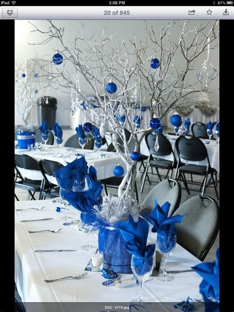 royal blue and white wedding centerpieces 1000 ideas about royal blue centerpieces on