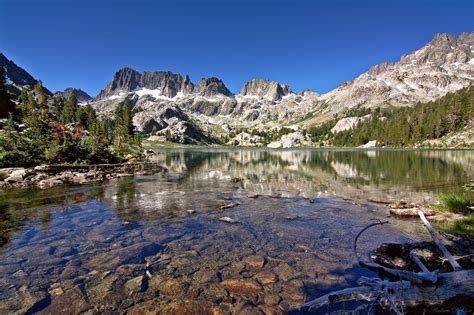 beautiful lake in ansel adam wilderness image free stock