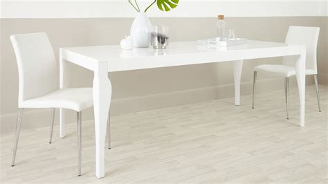 White Dining Tables 8 Seater Modern Dining Table White Gloss Uk Delivery