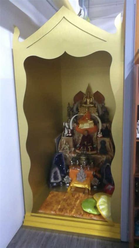 wooden altar singapore buddhist taoist hindu praying