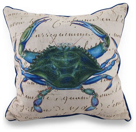 betsy blue crab indoor outdoor throw pillow 18