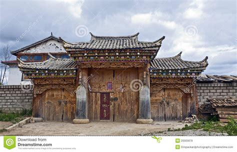 typical house style in typical tibetan style house royalty free stock photos image 20005878