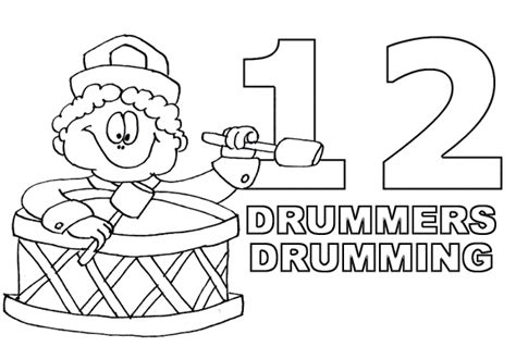 12 days of christmas coloring pages wallpapers9