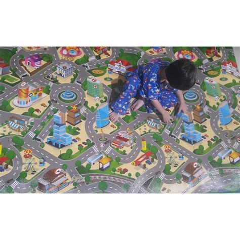 mainan anak karpet evamat city map 120x200 cm elevenia