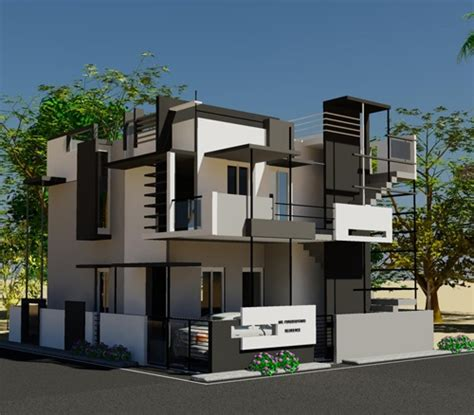 home design 3d elevation 3d view of puru s front elevation house design by ashwin archtiects in bangalore call 91 80