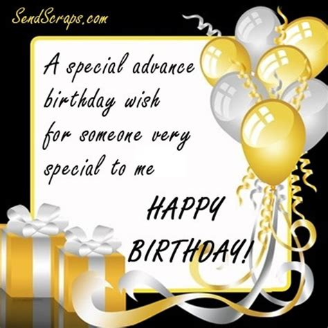 Advance Happy Birthday Wish Advance Birthday Wishes Wishes Greetings Pictures