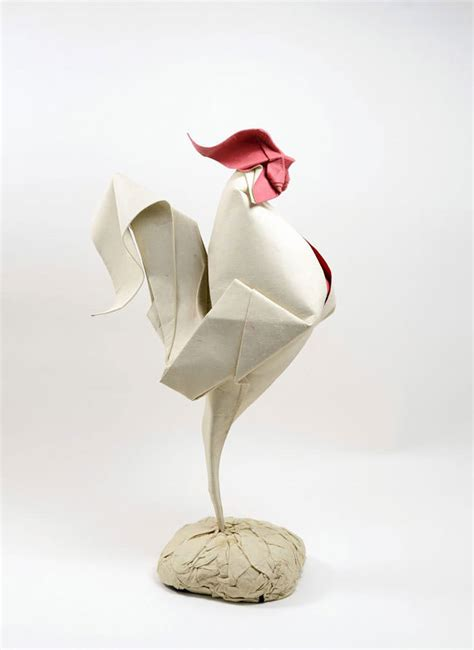 Origami Sculptures - artist uses a special folding technique to give these