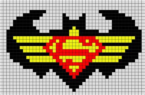 Batman and Superman Pixel Art ? BRIK