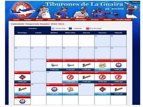 Calendario De Juegos Calendario De Juegos Temporada 2010 2011 Tiburones De La